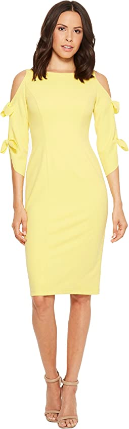 Donna Morgan - Crepe Midi Long Sleeve with Tie Detail