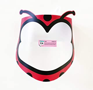 Face Shields for Kids and Adults. Cute Reusable Face Masks for Children. Comfortable, Durable and Easy To Clean. Made in USA (Child, Ladybug)