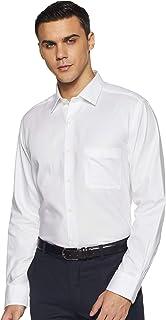 Arrow Men's Plain Regular Fit Formal Shirt, White