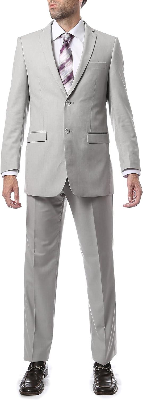 Ferrecci 52L Mens 2pc 2 Button Regular Fit Grey Suit
