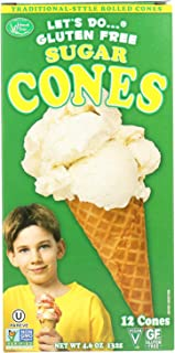 Let's Do…Gluten Free Sugar Cones Rolled Style, 12 Cones per Box, (Pack of 12 Boxes)