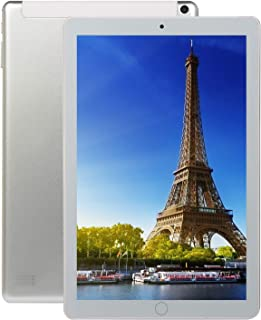 Ronshin Electronic 10.1 Inch Android 8.0 Ten-Core Tablet PC 64GB WIFI Bluetooth HD Touch Screen Silver EU plug