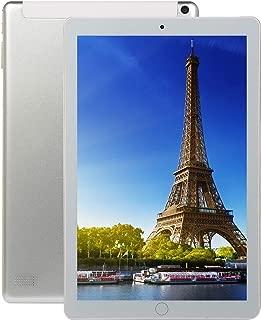 FidgetGear 10.1 inch 8+128GB 4G-LTE Tablet PC IPS HD Screen Dual Card Phone Call Tablet PC Silver US Plug