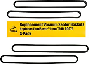 Upper and Lower Gasket Replacements for FoodSaver (4 Foam Gaskets) - Fits V2200, V2400, V2800, V3000, V3200 Series Vacuum Sealers (Replaces Food Saver T910-00075) by OutOfAir