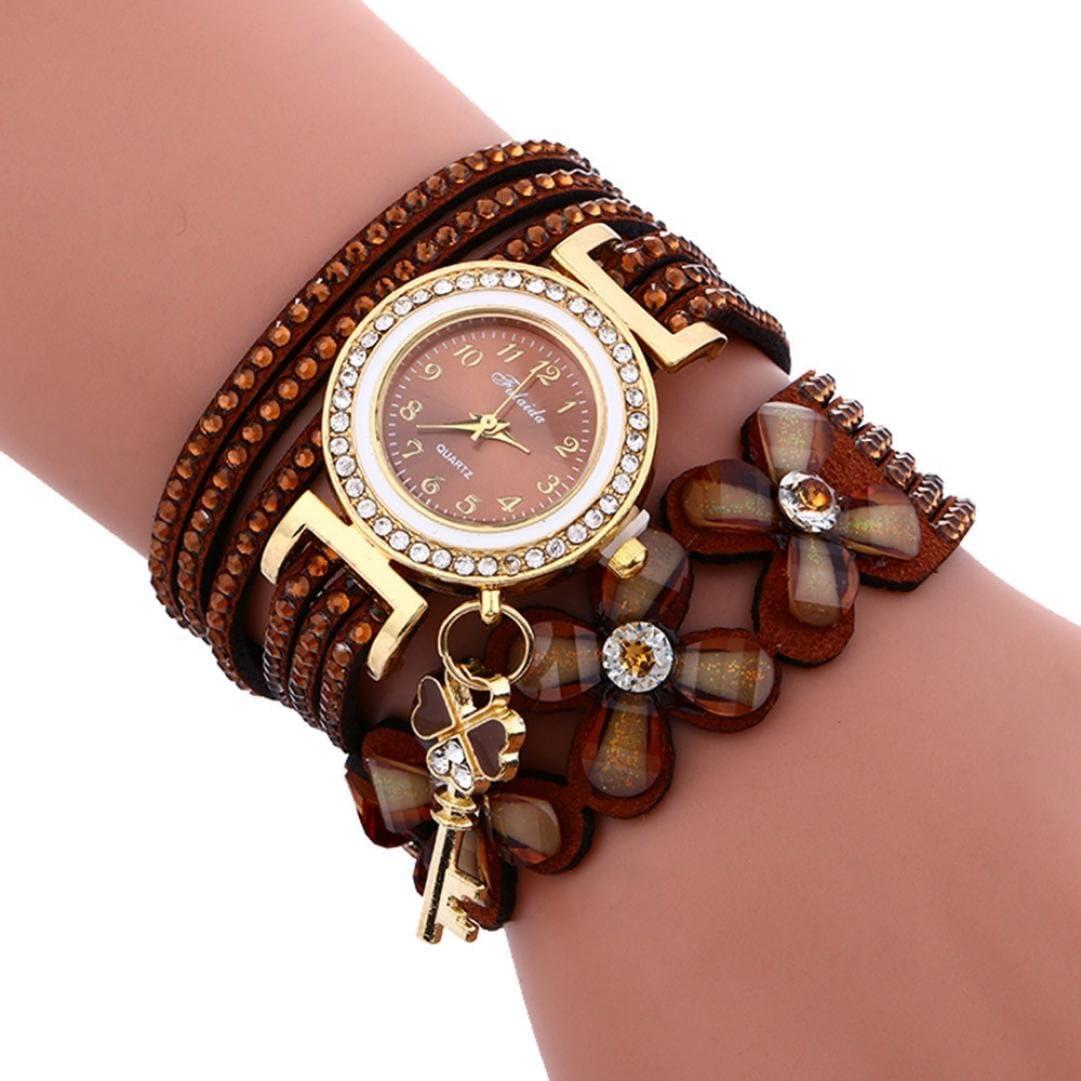 IEason Fashion Very popular New arrival Chimes Diamond Leather Womans Lady Bracelet Wrist