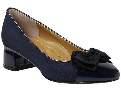 J. Renee Gelar (Navy Cross Grain) High Heels