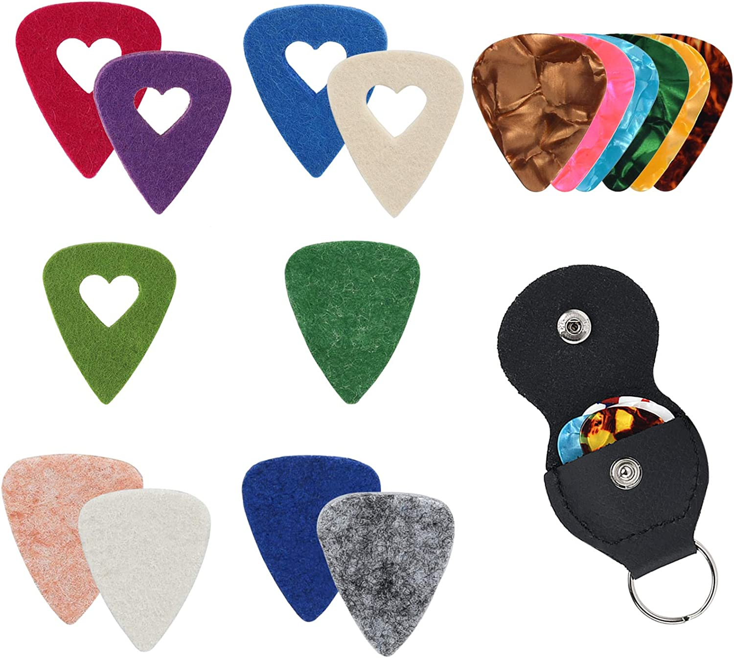 PlasMaller Hollow Guitar Inventory cleanup OFFicial selling sale Felt Hold Celluloid Picks