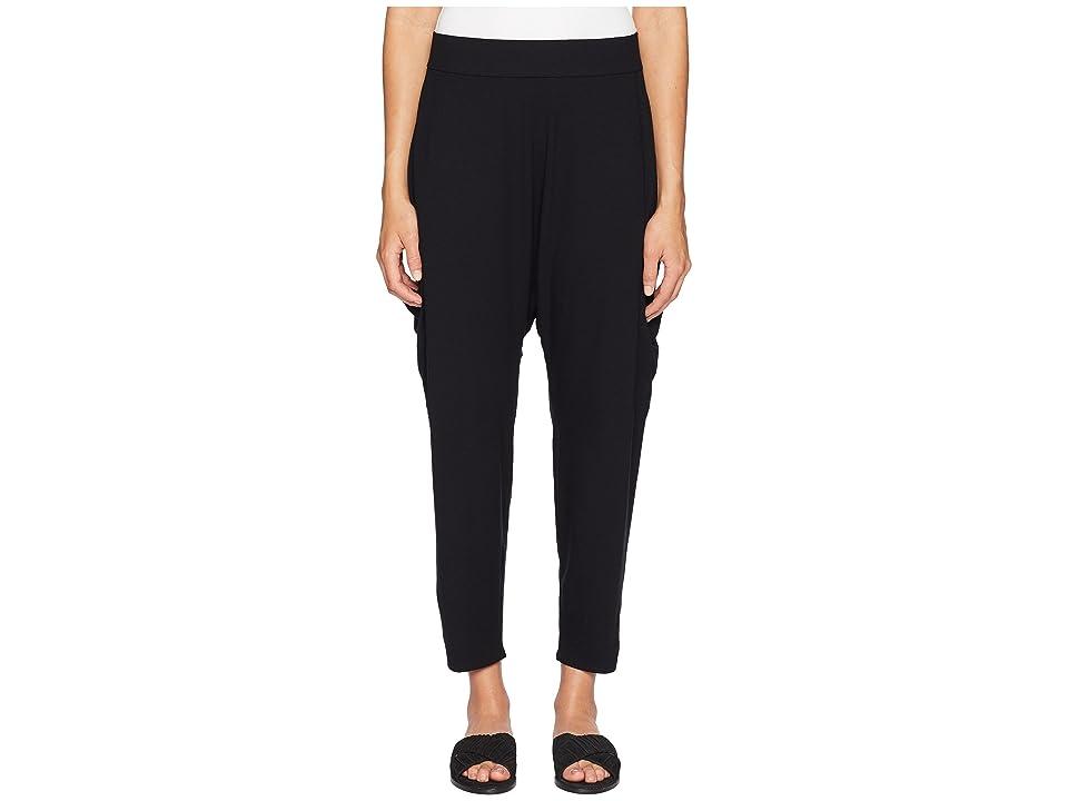 Eileen Fisher Slouchy Cropped Pants (Black) Women