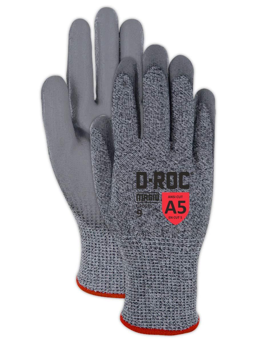 Magid D-ROC Mail order 13-Gauge Hyperon Polyurethane Work sale Palm Glove Coated