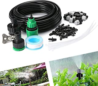 Joyeworld 32.8Ft Misting System, Outdoor Cooling Mist System Drip Irrigation Mister with 10pcs Misting Nozzle Spinklers fo...