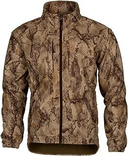 Natural Gear Winter-Ceptor Fleece Jacket for Men Windproof Full-Zip Jacket with Camouflage Pattern