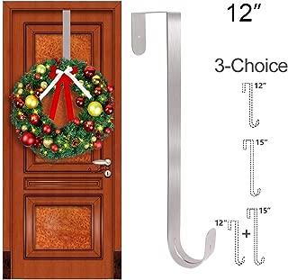 GameXcel Wreath Hanger Over The Door - Large Wreath Metal Hook for Christmas Wreath Front Door Hanger 12
