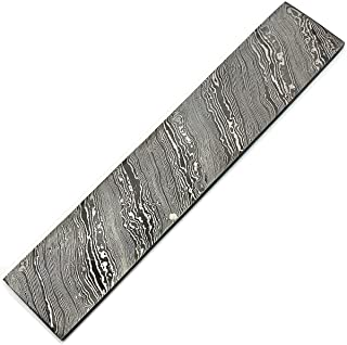 """MNAG 8703 12"""" x 2"""" x 5 MM Thickness TWIST Pattern Custom Handmade Damascus Steel Billet Bar Blank Blade for Knife Making   Jewellery Making   Cutlery Making and for Other Making Purpose"""