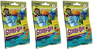 Outletdelocio.. Conjunto 3 Sobres Playmobil Scooby-Doo Figuras Misterio. Serie 1