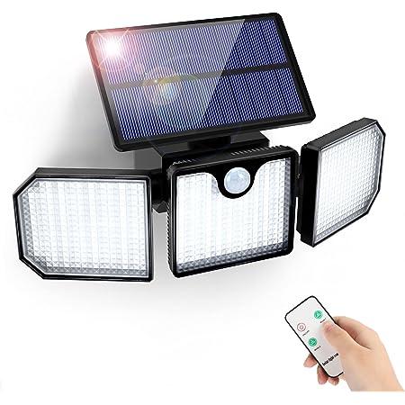 Solarlampen für Außen mit Bewegungsmelder GolWof 230 LED Solarleuchten mit Fernbedienung 3 Modi IP65 Wasserdicht 270° Weitwinkelbeleuchtung Wandleuchte Solar Aussenleuchte für Garten Patio Garage