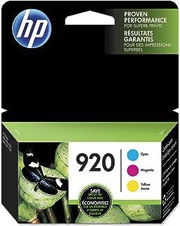 HP 920 Cyan, Magenta & Yellow Original Ink, 3 Cartridges (N9H55FN)