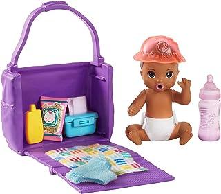 Barbie- Skipper Teneri Bebè Playset Pappa e Cambio Pannolino, Bambola con Accessori, Giocattolo per Bambini 3+ Anni, Multi...
