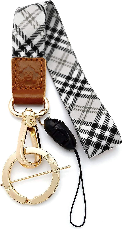 H.M Wrist Lanyard Golden Series Key Chain Holder /USB Flash Drive / Mobile Phone / Wallet etc Gift (yellow g)