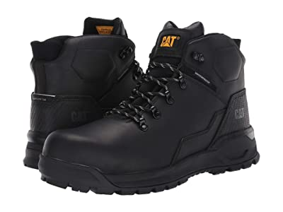 Caterpillar Kinetic Ice+ Waterproof TX Composite Toe (Black Full Grain Leather) Men