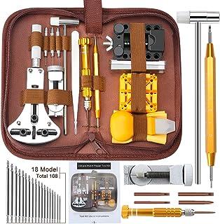 E·Durable Kit de réparation de Montre Outil de réparation Professionnels Remplacement des Pile Outil Removaler Barres de R...