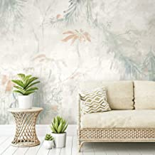 RoomMates Beige & Gray Jungle Lily Mural Peel and Stick Wallpaper