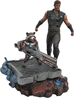 DIAMOND SELECT TOYS Marvel Premier Collection: Avengers Infinity War Thor & Rocket Resin Statue