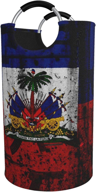 YangXiH 82l Cheap sale Large Laundry Basket Flag Collapsib Grunge Haitian Save money
