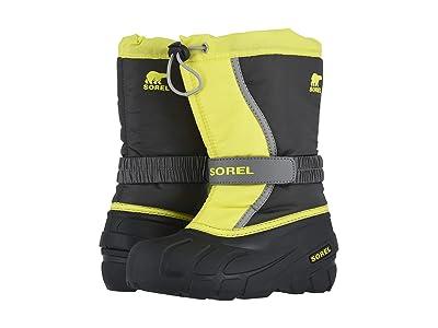 SOREL Kids Flurry (Toddler/Little Kid/Big Kid) (Dark Grey/Warning Yellow) Boys Shoes