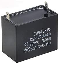Saim Black Metallized Polypropylene Motor Run Capacitor for CBB61 450VAC
