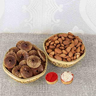 Exotes Best Almonds and Best Anjeer Dry Figs Combo Pack(500 Grams)