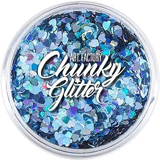 Art Factory Chunky Glitter - Blue Hearts (1 oz)