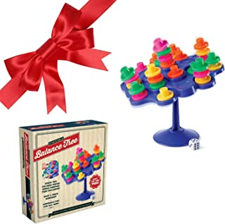 Stackable Balance Tree Toy Game - Challenges Requires Skill to Stack Colored Pieces While Keeping Tree Balanced. Fun Educational Toys, Building Games, Engineering Toys, Brain Games Balance Toy