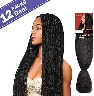 Authentic Synthetic Hair Braids 100% KaneKalon Jumbo Braids Hair Extension (12-PACK, 2)
