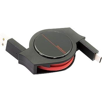 オウルテック 超タフ 巻取り Type-C (USB-C) ケーブル QC3.0対応 充電 データ転送 android スマホ 2年保証 120cm ブラック/レッド OWL-CBRKCA12-BKRE