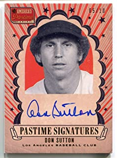 Don Sutton AUTO #DS 2013 Panini America's Pastime Signature GOLD #5/10 Autographed Baseball Trading Card
