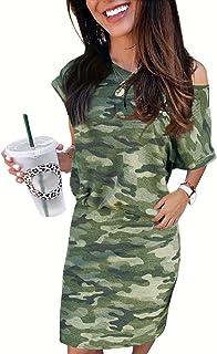 GOSOPIN Women Lantern Sleeve Tie Office Business Midi Pencil Dress with Pocket