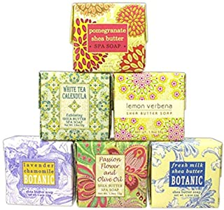 Bundle of 6 Greenwich Bay Trading Co. Soaps - 1.9oz Soaps in The Following Scents: Fresh Milk, Lemon Verbena, White Tea Ca...