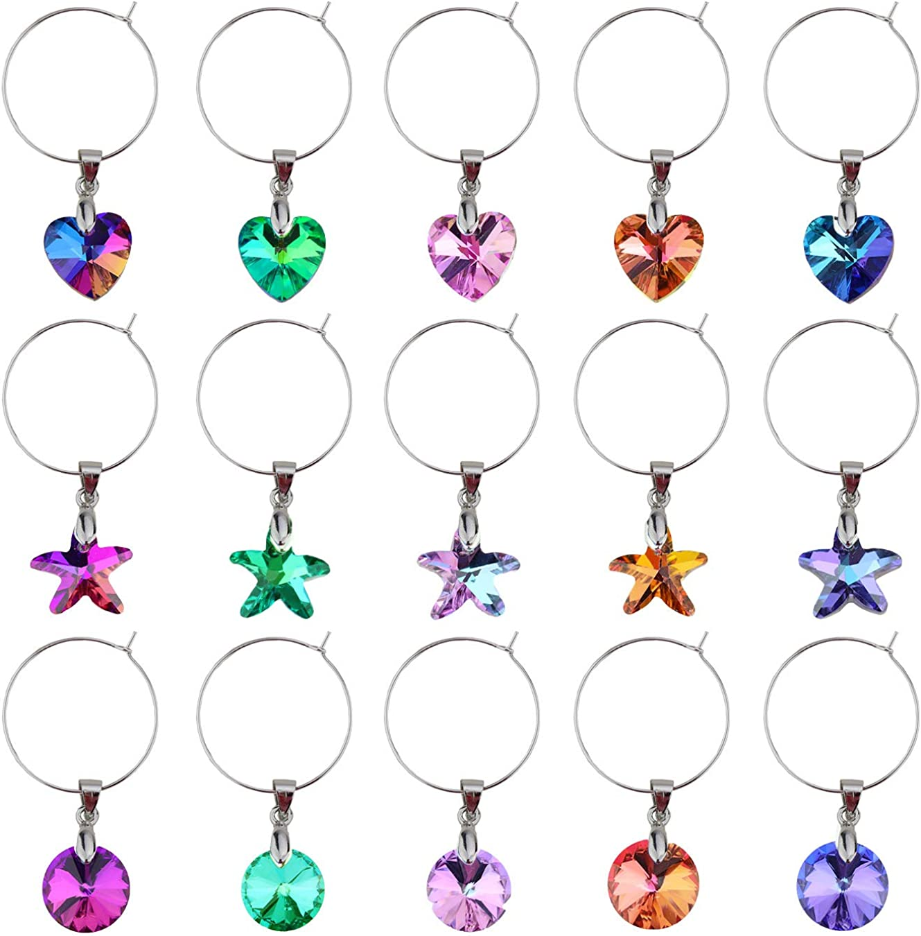 Wine Glass Charms Markers for Stem Fa Tasting Party Glasses Direct stock discount New arrival