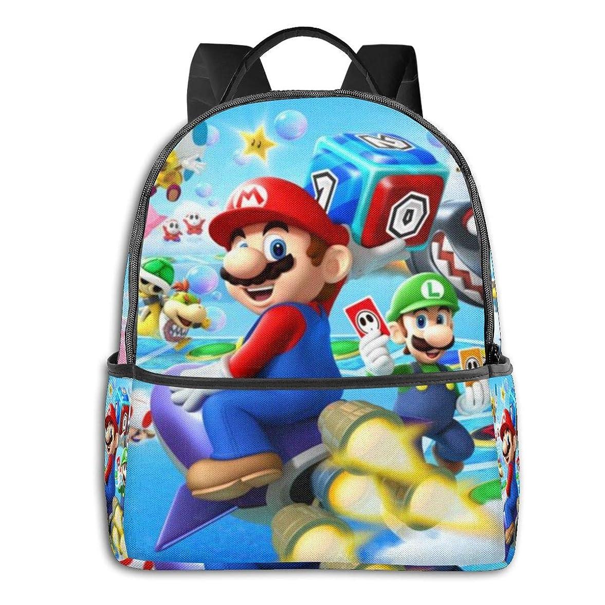 あらゆる種類の牛肉横リュック Super Mario Bros. スーパーメアリー リュックサック カジュアル バックパック リュックサック 大容量 メンズ レディース おしゃれ アニメ 漫画 全幅 かわいい 萌えグッズ 通勤 男女兼用 学生 出張 旅行 ランドセル