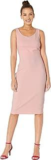 Women's Scuba Crepe Midi Dress – Sleeveless Professional Wear