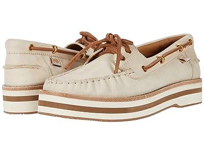 Tory Burch Joey Flat Form Boat Shoe (Condensed Milk) Women