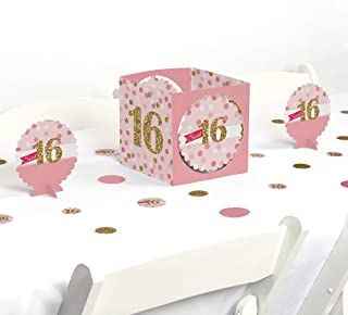 Big Dot of Happiness Sweet 16 - Birthday Party Centerpiece and Table Decoration Kit