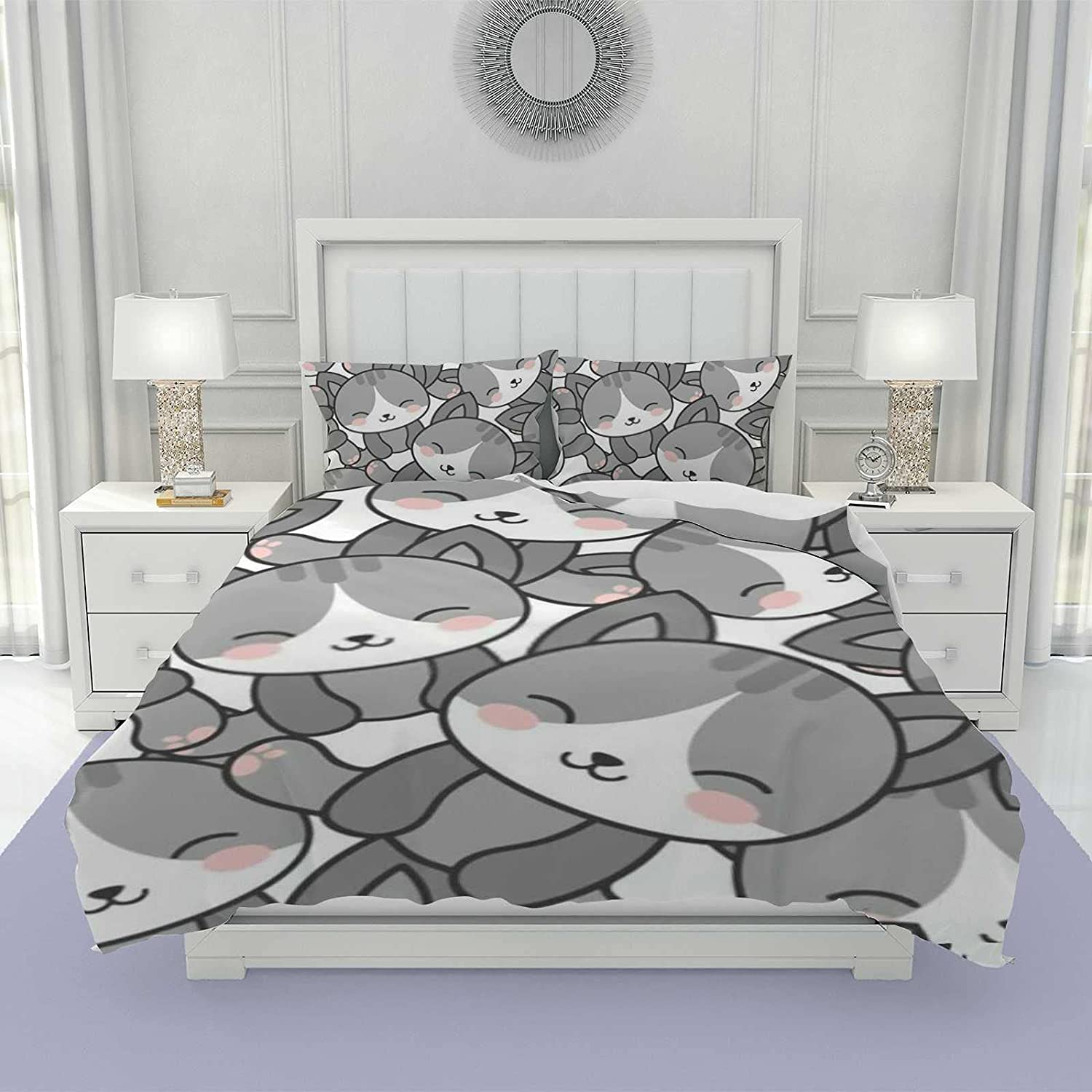 3Pcs Duvet Cover Set - 1 Ranking TOP1 2 Quilt and Sham Tampa Mall Comforter Pillow