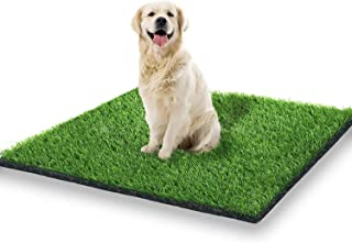 STARROAD-TIM 39.3 x 31.5 inches Artificial Grass Rug Turf for Dogs Indoor Outdoor Fake Grass for Dogs Potty Training Area ...