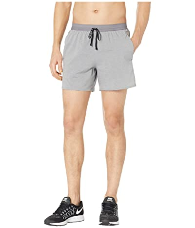 Nike Flex Stride Shorts 5 BF (Gunsmoke/Heather/Metallic Silver) Men
