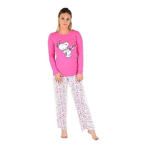 b70ba9b6c7 Snoopy Ladies Long Sleeve Tweety Pyjama Set Womens Mickey Minne Mouse PJ s  Bugs Bunny Nightwear