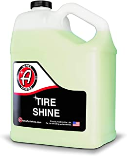 Adam's Tire Shine Gallon - Spray Tire Dressing W/ SiO2 For Non Greasy Car Detailing | Use W/Tire Applicator After Tire Cle...