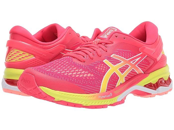 ASICS  GEL-Kayano 26 (Pink/Sour Yuzu) Womens Running Shoes