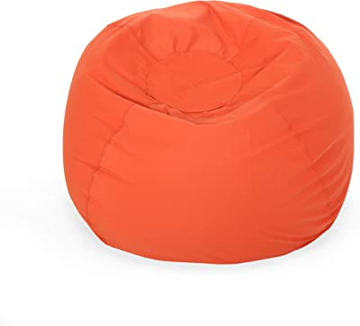 Christopher Knight Home Poppy Indoor Water Resistant 4.5' Bean Bag, Coral