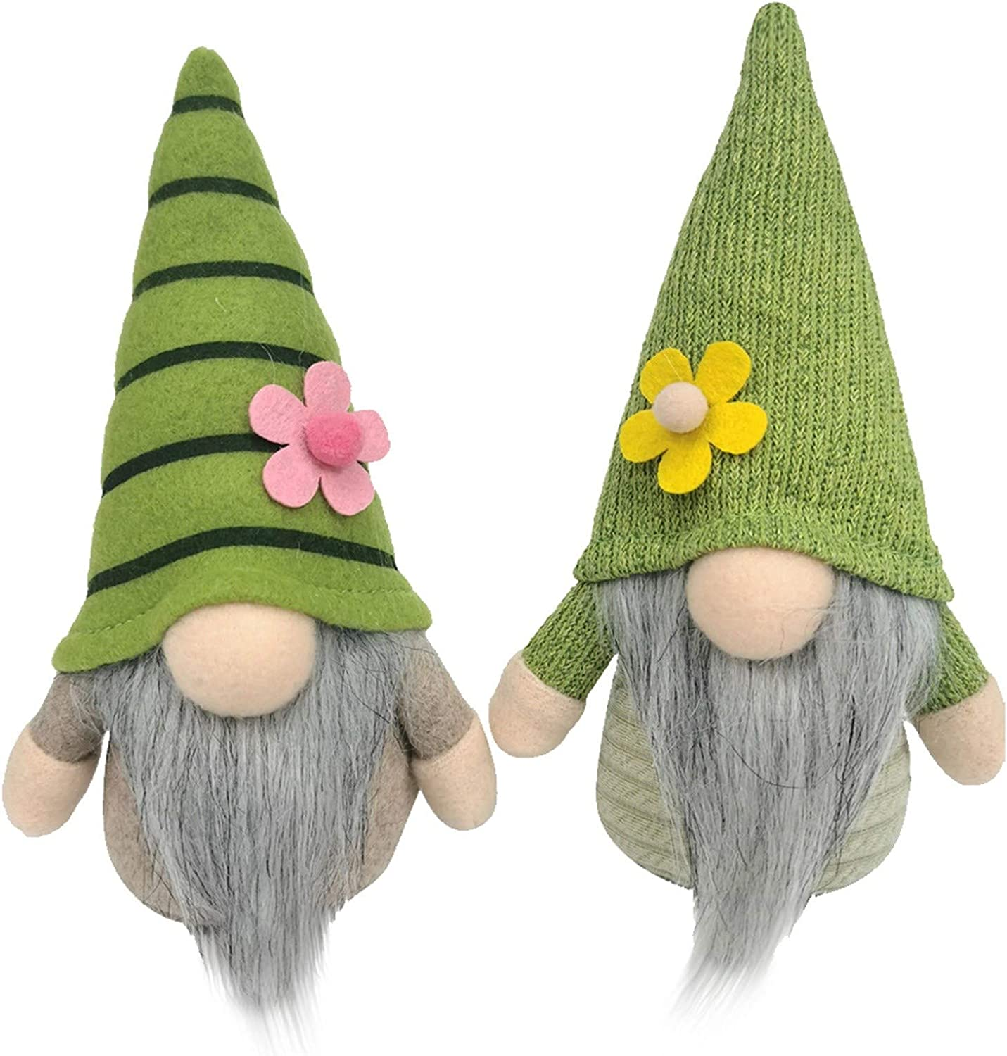 2PCS Mothers Day Gnomes Gift-Spring Flowers Dwarf Gnome Home Decoration,Easter Decorations Handmade Gnome Faceless Plush Doll